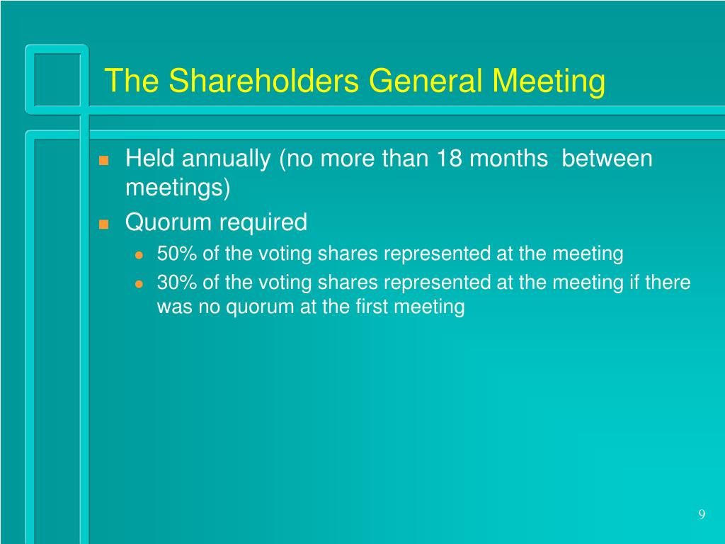The Shareholders General Meeting