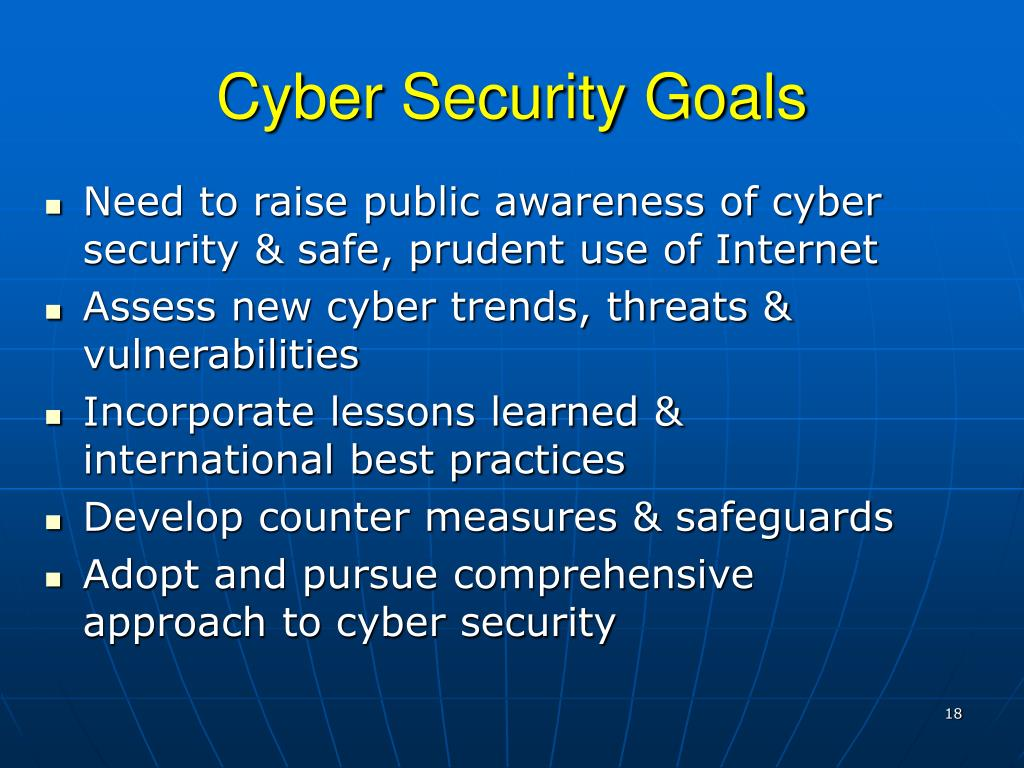 Cyber Security Goals