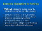 economic implications for armenia