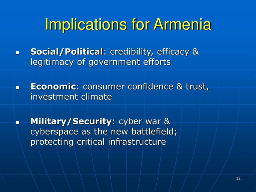 Implications for Armenia