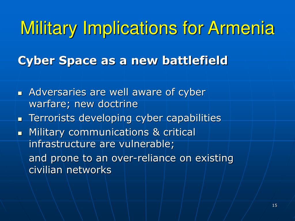 Military Implications for Armenia