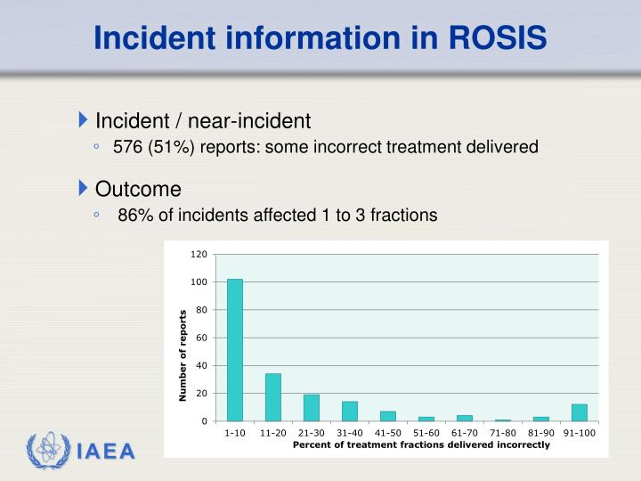 Incident information in ROSIS