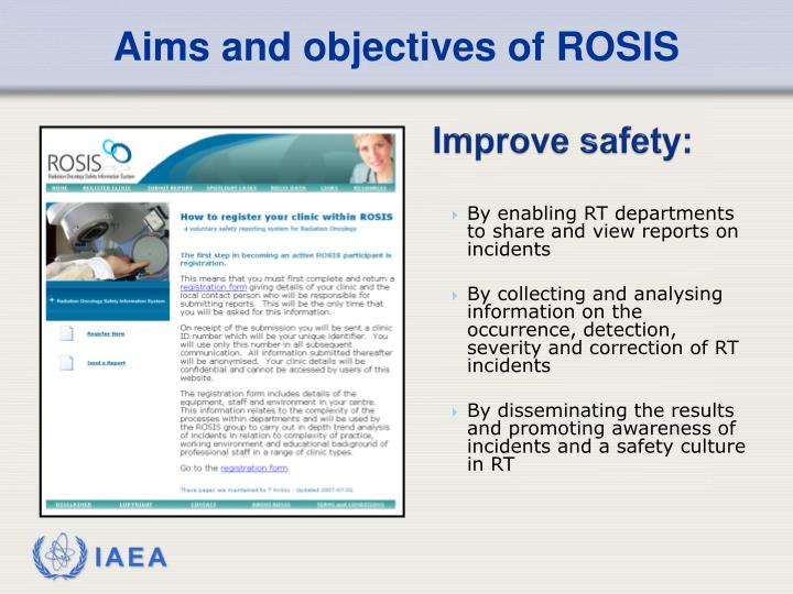 Aims and objectives of ROSIS