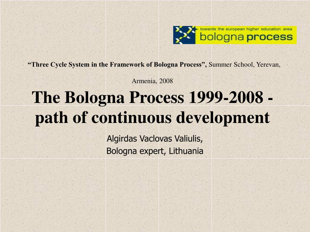 """Three Cycle System in the Framework of Bologna Process"","