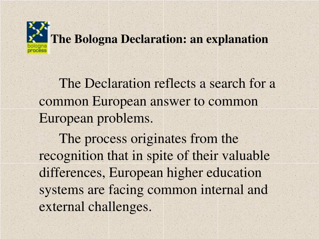 The Bologna Declaration: