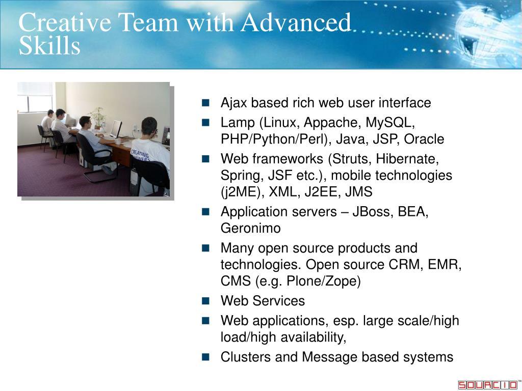 Creative Team with Advanced