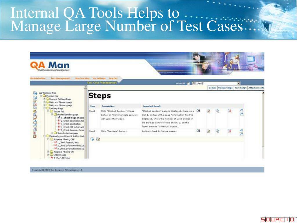 Internal QA Tools Helps to