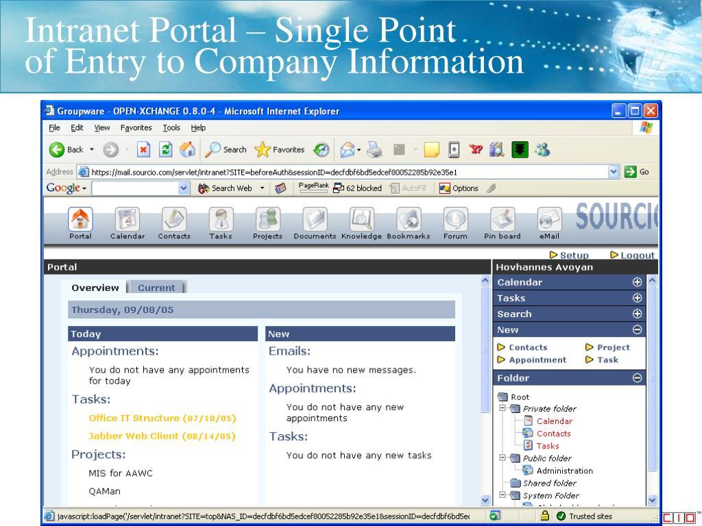 Intranet Portal – Single Point