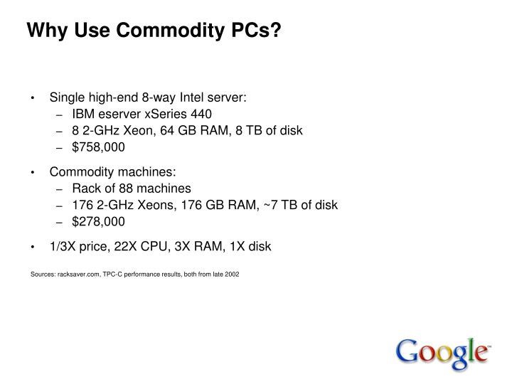 Why Use Commodity PCs?