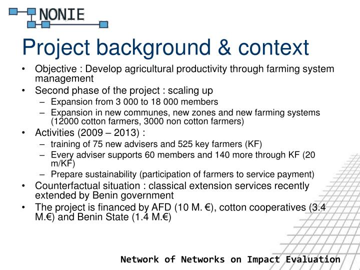 Project background context