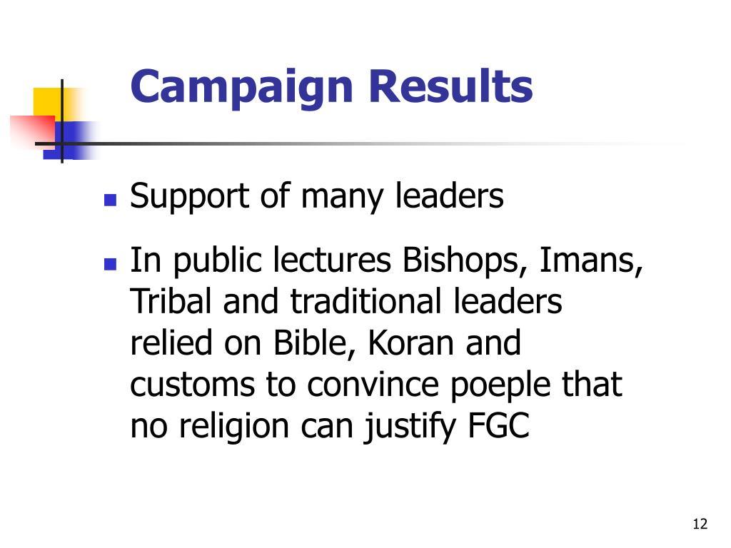 Campaign Results