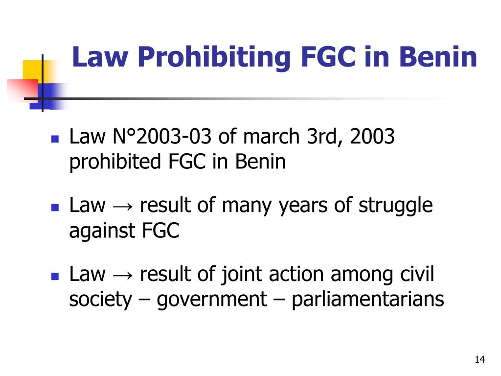 Law Prohibiting FGC in Benin