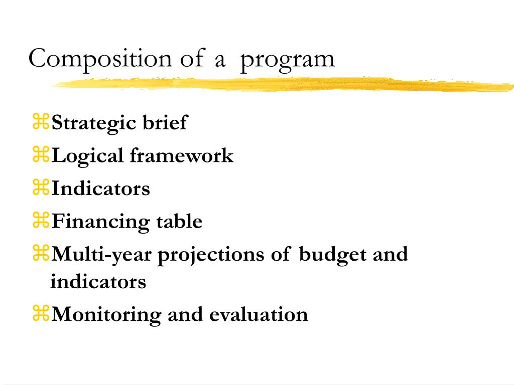 Composition of a  program