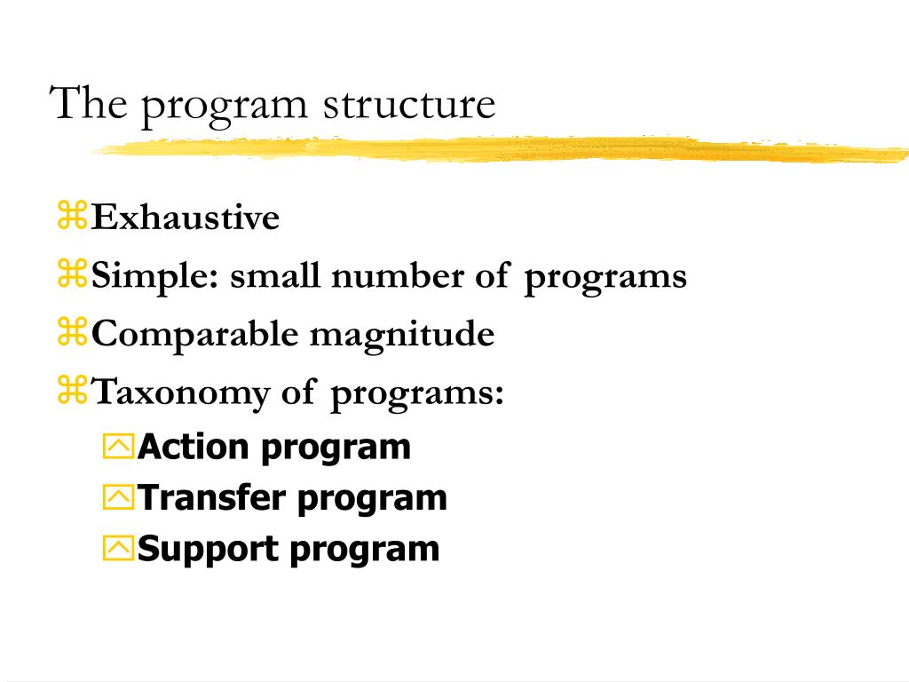 The program structure