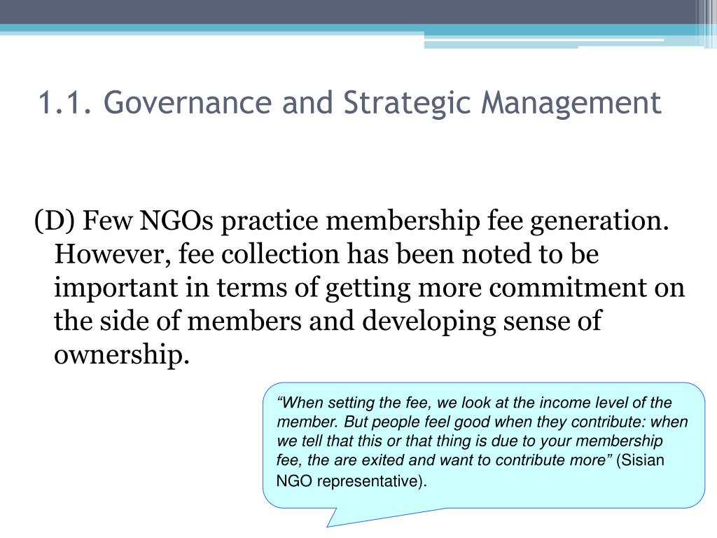 1.1. Governance and Strategic Management