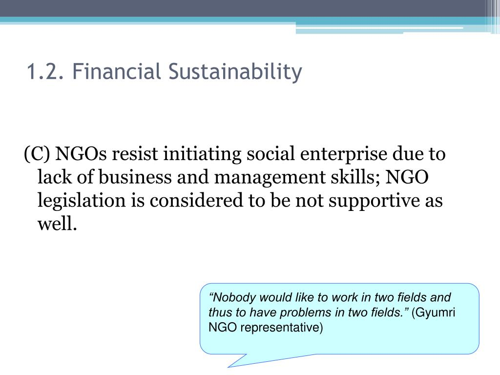 1.2. Financial Sustainability