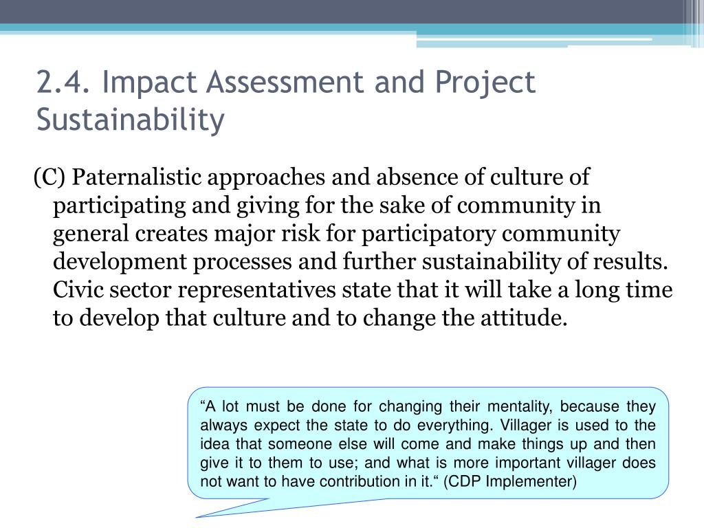 2.4. Impact Assessment and Project Sustainability