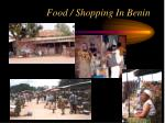 food shopping in benin