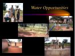 water opportunities