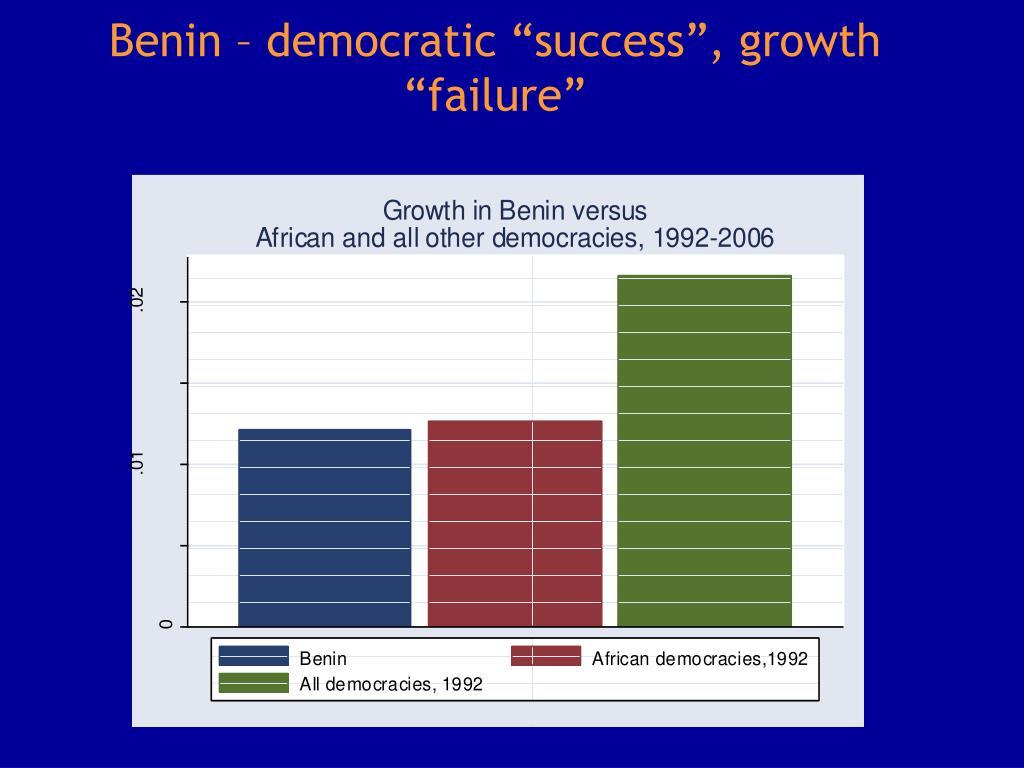 "Benin – democratic ""success"", growth ""failure"""