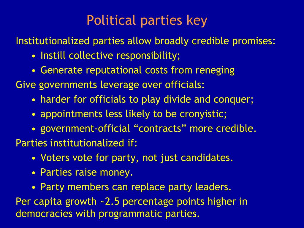 Political parties key