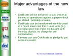 major advantages of the new law