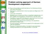 problem solving approach of german development cooperation