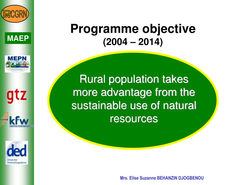 Rural population takes more advantage from the sustainable use of natural resources
