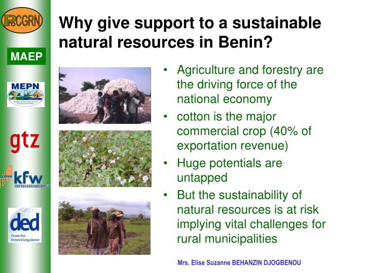 Why give support to a sustainable natural resources in benin l.jpg