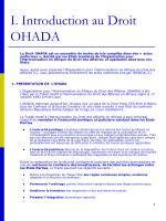 i introduction au droit ohada