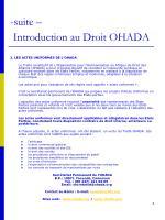 suite introduction au droit ohada