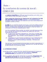 suite la conclusion du contrat de travail cdd cdi