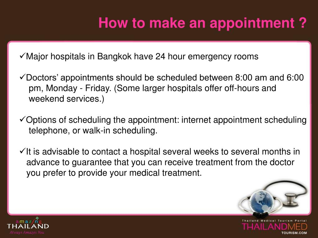 How to make an appointment ?