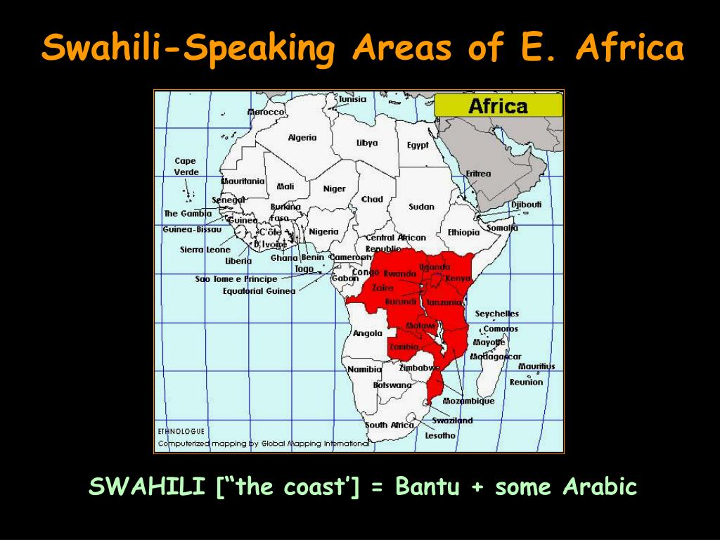 Swahili-Speaking Areas of E. Africa