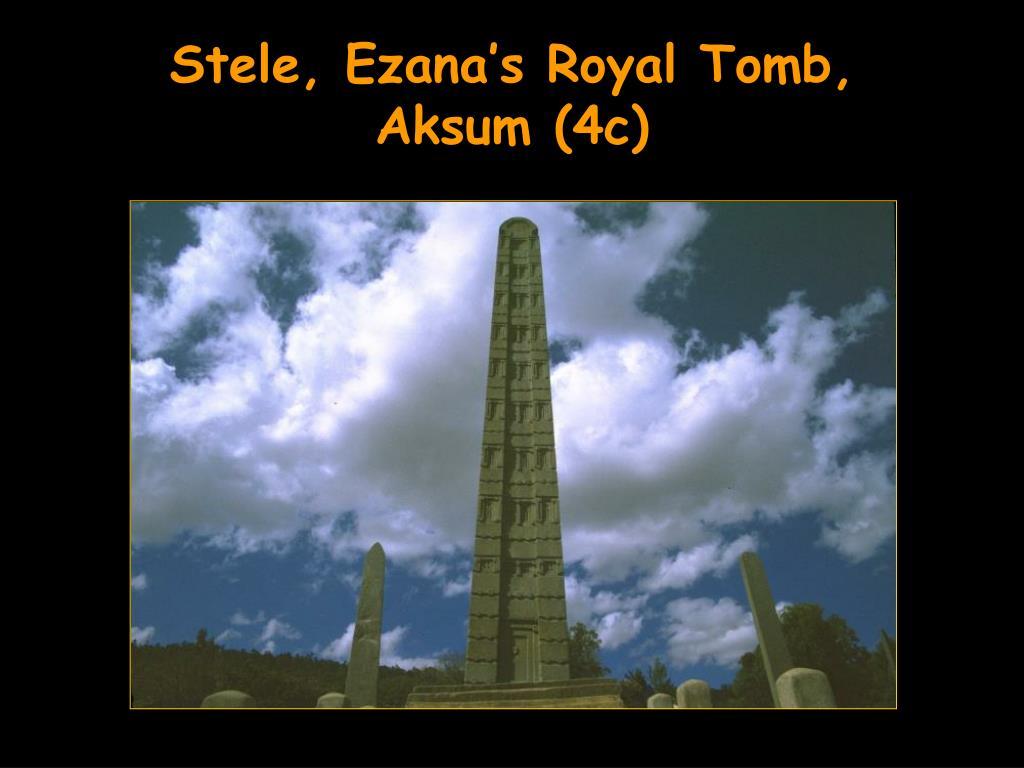 Stele, Ezana's Royal Tomb,
