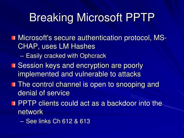 Breaking Microsoft PPTP