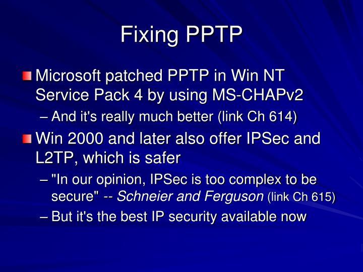 Fixing PPTP