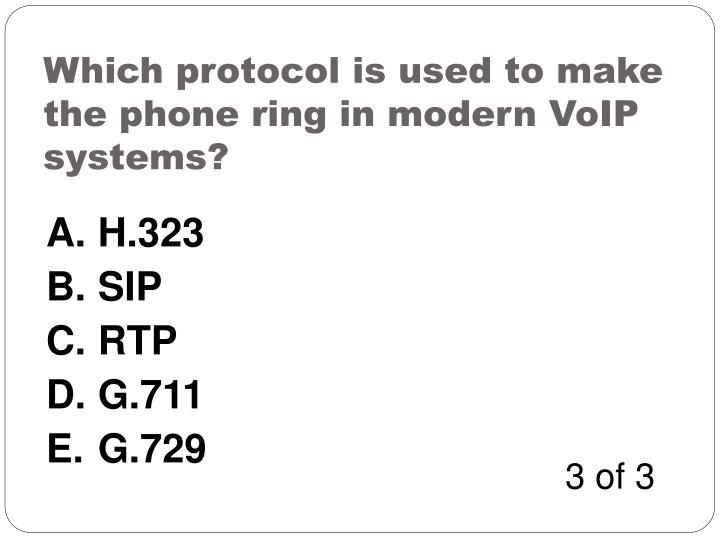 Which protocol is used to make the phone ring in modern VoIP systems?