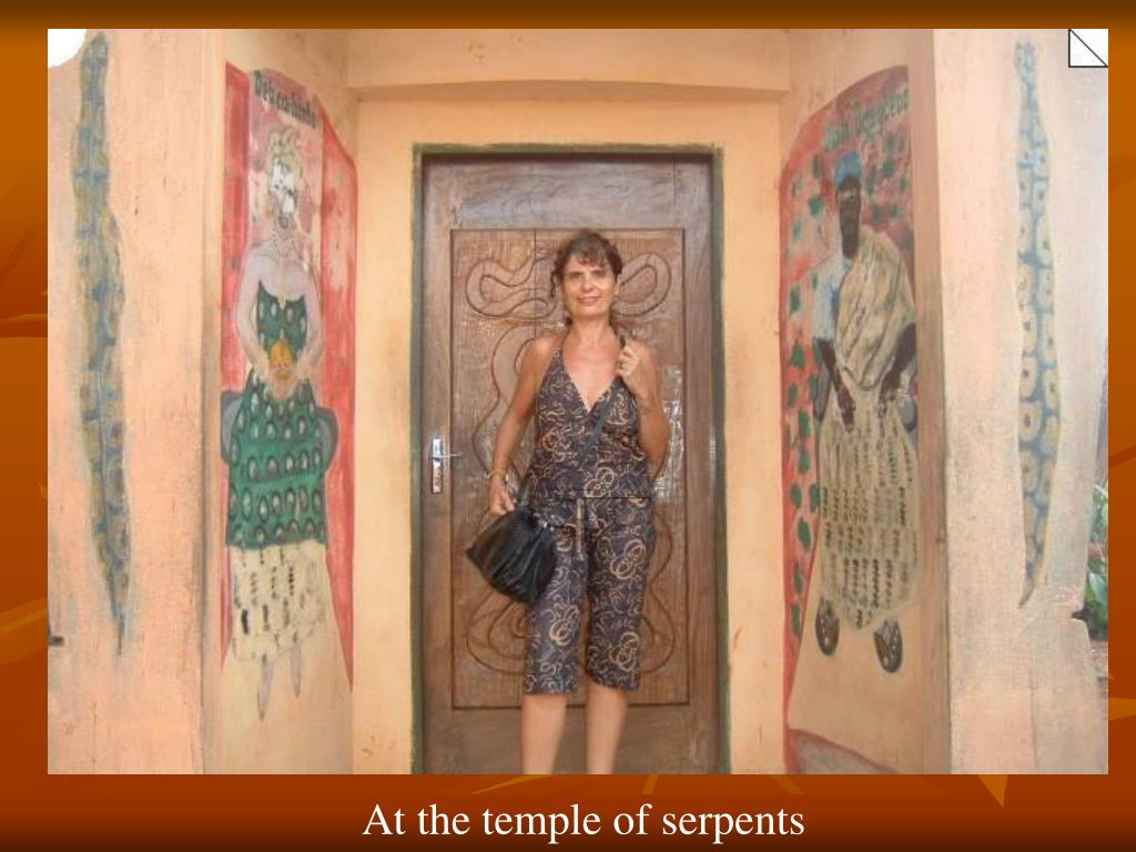 At the temple of serpents