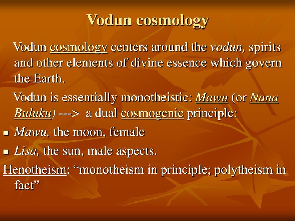 Vodun cosmology