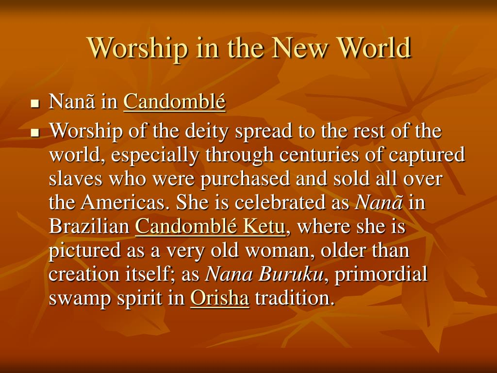 Worship in the New World