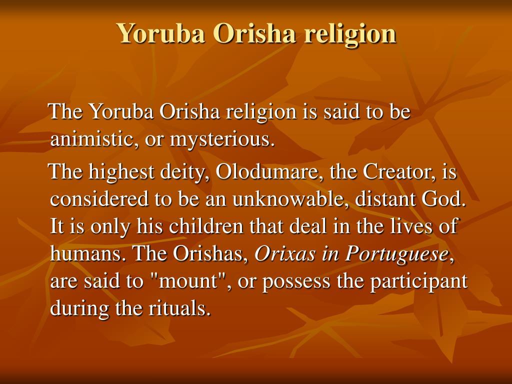 Yoruba Orisha religion