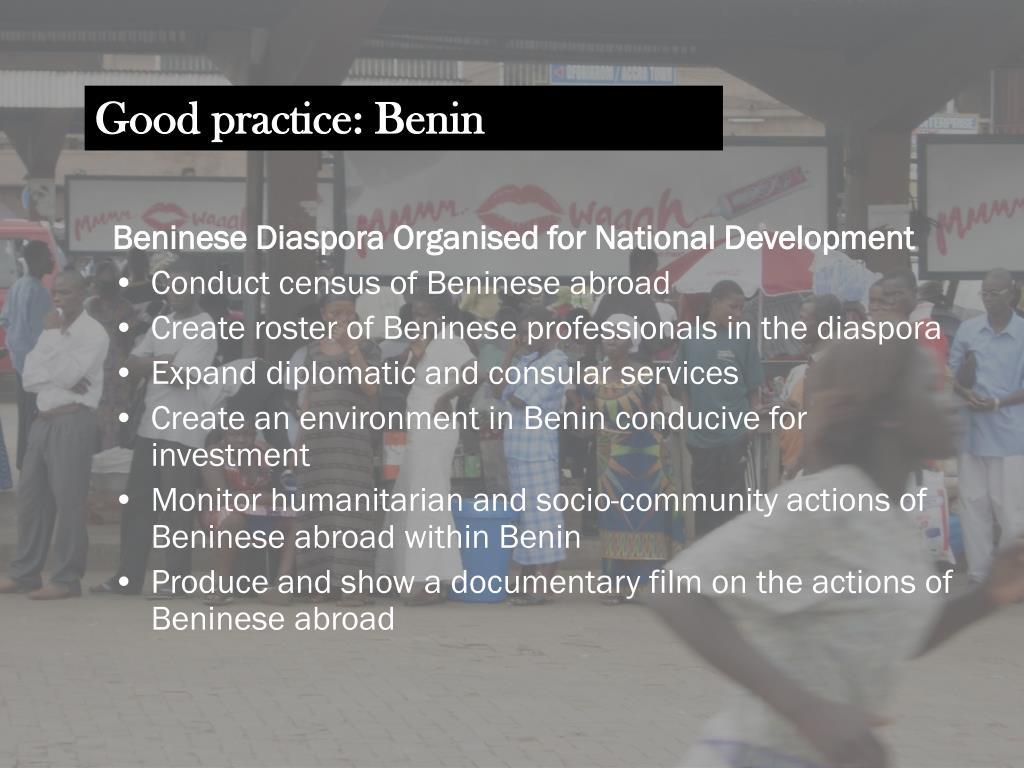 Good practice: Benin