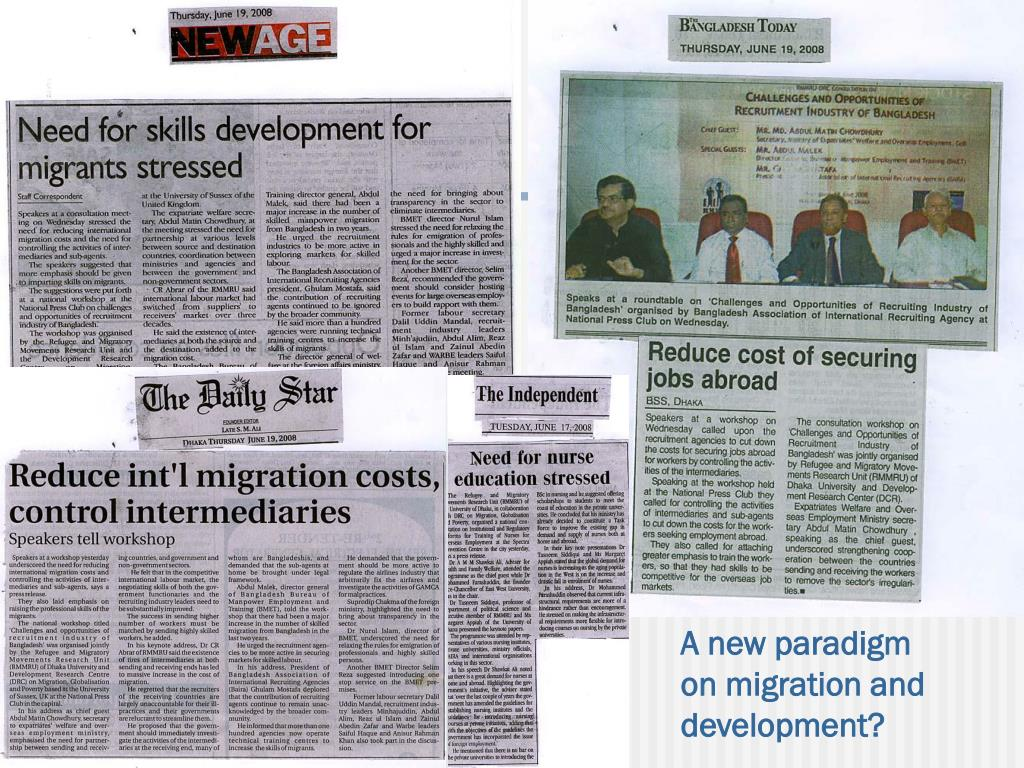A new paradigm on migration and development?
