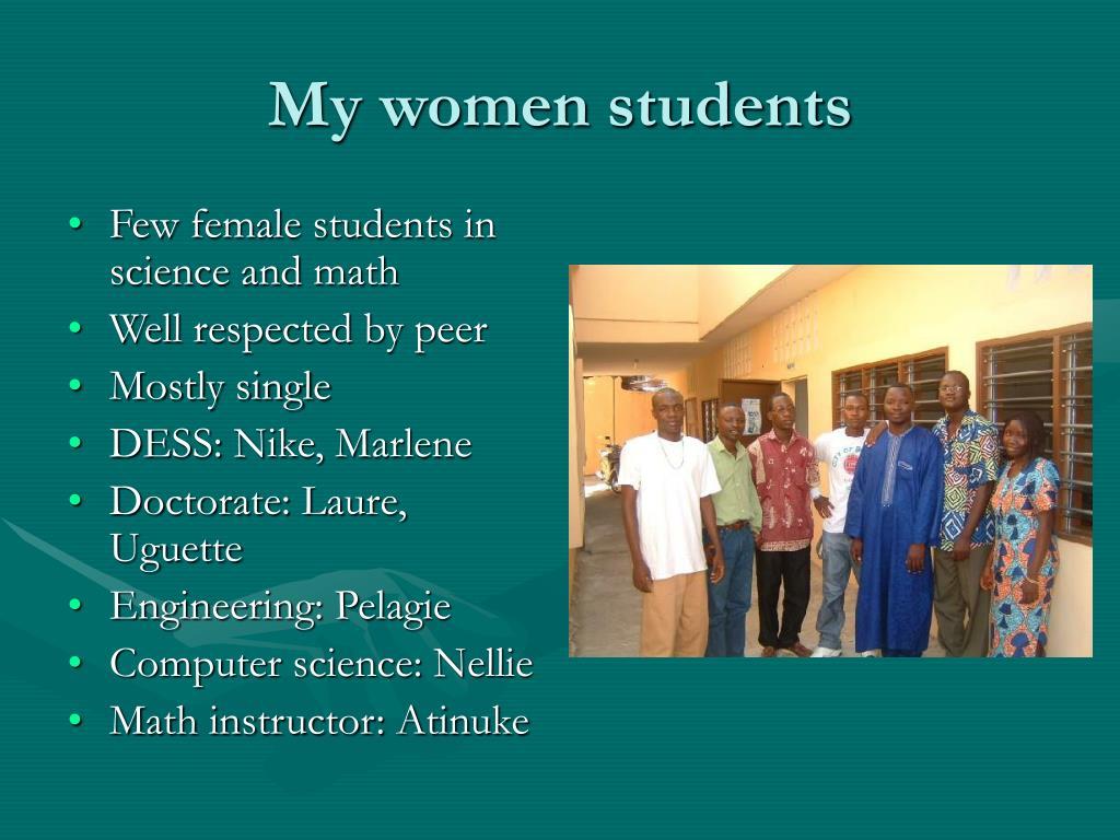 My women students