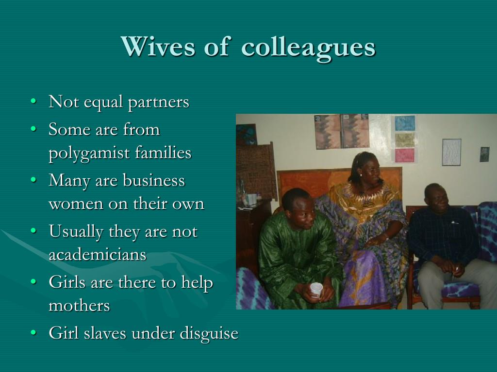 Wives of colleagues