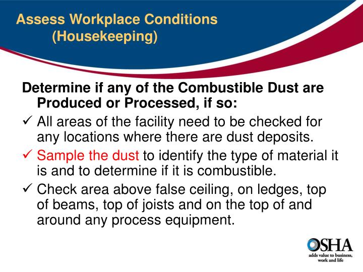 Assess Workplace Conditions