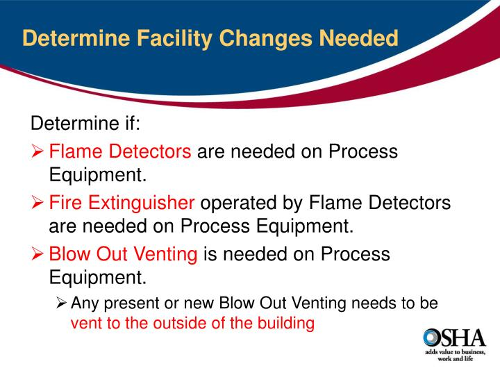 Determine Facility Changes Needed