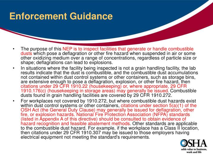 Enforcement Guidance