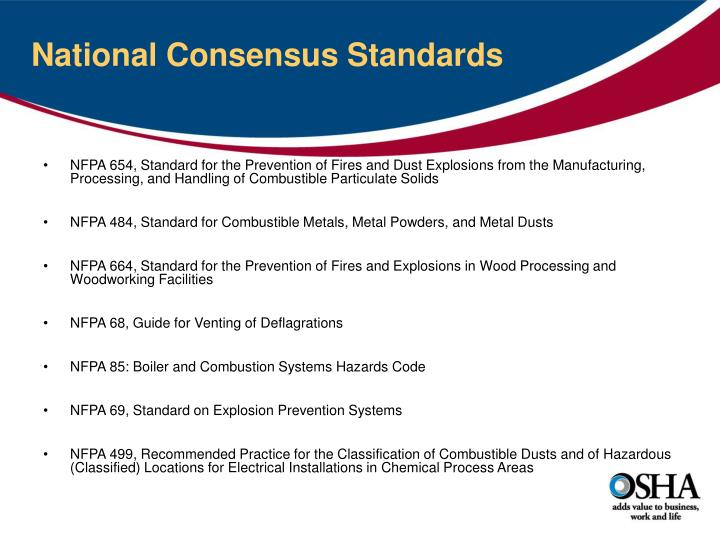 National Consensus Standards